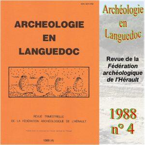 Revue Archéologie en Languedoc 1988-4