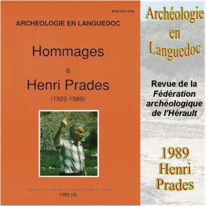 Revue Archéologie en Languedoc 1989 Hommage à Henri Prades