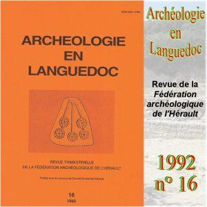 Revue Archéologie en Languedoc 1992-16