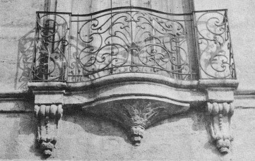 Grille de balcon de l'hôtel Malibran (2e moitié du XVIIIe siècle)