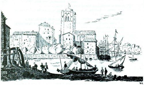 LE PORT D'AGDE au XVIIe siècle (d'après une gravure ancienne)