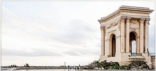 Le château d'eau du jardin du Peyrou à Montpellier