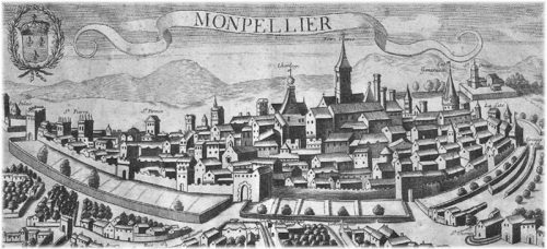 Ancienne vue de Montpellier