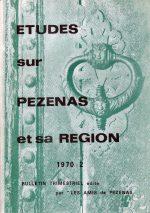 Revue Etudes sur Pézenas et sa région-1970-2