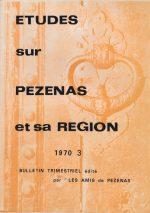 Revue Etudes sur Pézenas et sa région-1970-3