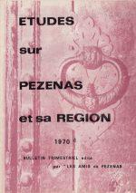 Revue Etudes sur Pézenas et sa région-1970-4