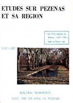 Revue Etudes sur Pézenas et sa région-1971-1