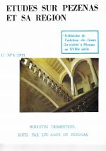 Revue Etudes sur Pézenas et sa région-1971-4