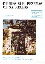 Revue Etudes sur Pézenas et sa région-1972-3