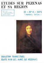 Revue Etudes sur Pézenas et sa région-1973-4