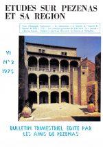 Revue Etudes sur Pézenas et sa région-1975-2