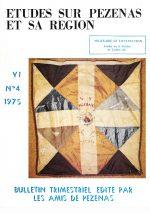 Revue Etudes sur Pézenas et sa région-1975-4