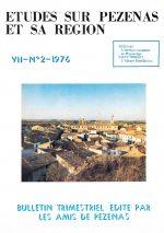 Revue Etudes sur Pézenas et sa région-1976-2