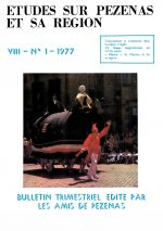 Revue Etudes sur Pézenas et sa région-1977-1