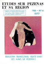 Revue Etudes sur Pézenas et sa région-1977-4