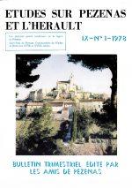 Revue Etudes sur Pézenas et l'Hérault-1978-1