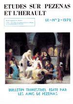 Revue Etudes sur Pézenas et l'Hérault-1978-2
