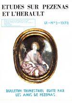 Revue Etudes sur Pézenas et l'Hérault-1978-3