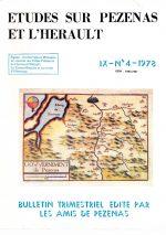 Revue Etudes sur Pézenas et l'Hérault-1978-4