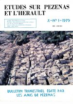 Revue Etudes sur Pézenas et l'Hérault-1979-1