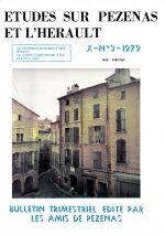 Revue Etudes sur Pézenas et l'Hérault-1979-3
