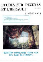 Revue Etudes sur Pézenas et l'Hérault-1980-1