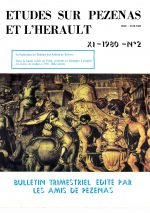 Revue Etudes sur Pézenas et l'Hérault-1980-2