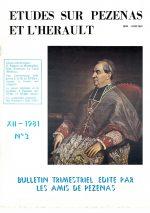 Revue Etudes sur Pézenas et l'Hérault-1981-3