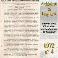 Fédération Archéologique de L'Hérault 1972-4 Bulletin