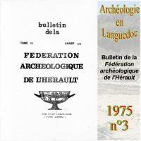 Archéologie en Languedoc 1975-3 Bulletin