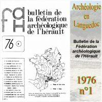 Archéologie en Languedoc 1976-1 Bulletin