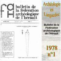 Archéologie en Languedoc 1978-1 Bulletin