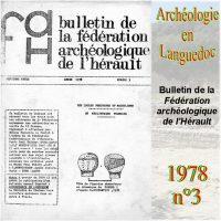 Archéologie en Languedoc 1978-3 Bulletin