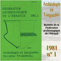 Archéologie en Languedoc 1981-1 Bulletin