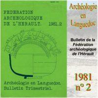 Archéologie en Languedoc 1981-2 Bulletin