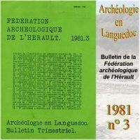 Archéologie en Languedoc 1981-3 Bulletin