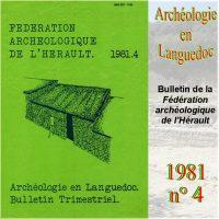 Archéologie en Languedoc 1981-4 Bulletin