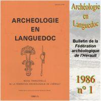 Archéologie en Languedoc 1986-1 Bulletin