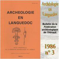 Archéologie en Languedoc 1986-3 Bulletin