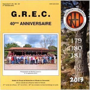 Groupe de Recherches et d'Etudes du Clermontais, Première de couverture 179-181