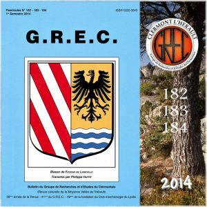 Groupe de Recherches et d'Etudes du Clermontais, Première de couverture 182-184