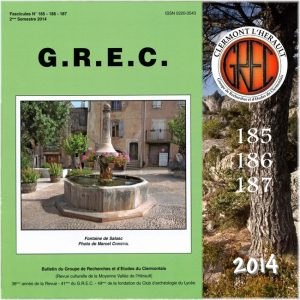 Groupe de Recherches et d'Etudes du Clermontais, Première de couverture 185-187