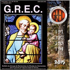 Groupe de Recherches et d'Etudes du Clermontais, Première de couverture 191-194
