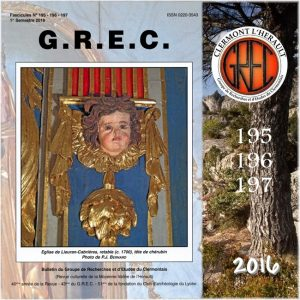 Groupe de Recherches et d'Etudes du Clermontais, Première de couverture 195-197