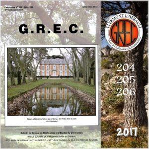 Groupe de Recherches et d'Etudes du Clermontais, Première de couverture 204-206
