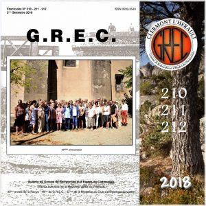 Groupe de Recherches et d'Etudes du Clermontais, Première de couverture 210-212