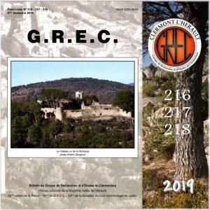 Groupe de Recherches et d'Etudes du Clermontais, Première de couverture 216-218