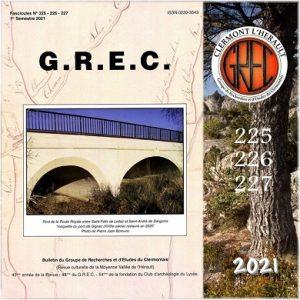 Groupe de Recherches et d'Etudes du Clermontais, Première de couverture 225-227